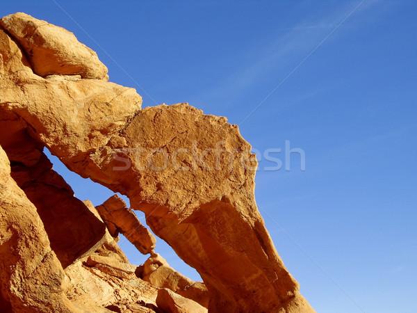 Levendig oranje rock vallei brand textuur Stockfoto © emattil