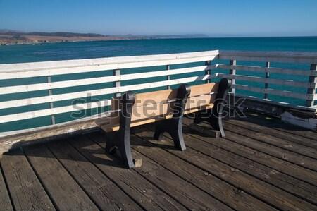 ławce molo California wody lata Zdjęcia stock © emattil