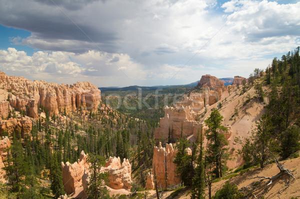 Chuva nuvens desfiladeiro parque Utah EUA Foto stock © emattil