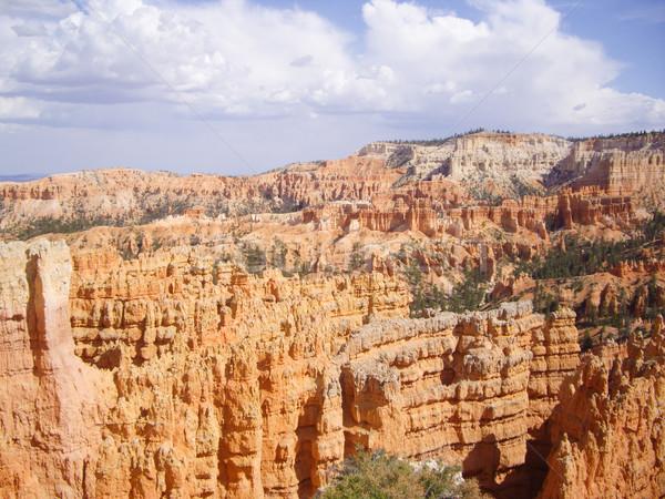 Estate tuono nubi canyon parco Utah Foto d'archivio © emattil