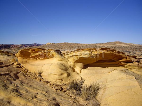 песчаник долины огня текстуры рок каменные Сток-фото © emattil
