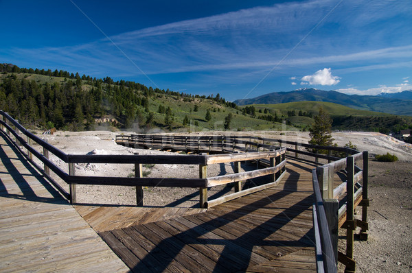 Mammoth Hot Springs Boardwalk Stock photo © emattil
