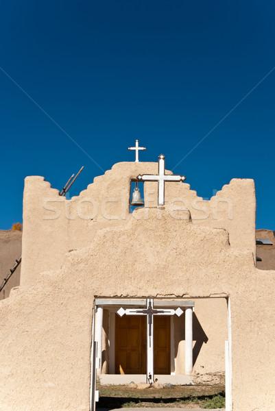 Misyon üç haçlar çan eski kilise Stok fotoğraf © emattil