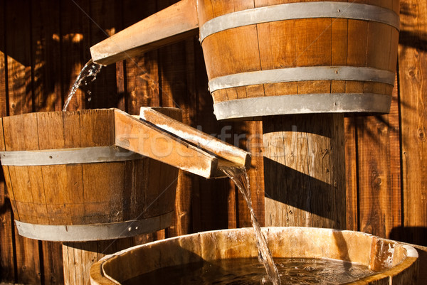 Wooden Water Barrel Chutes  Stock photo © emattil