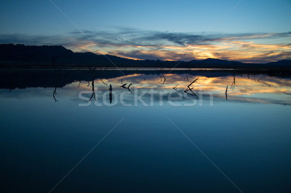 Sunset over Water Stock photo © emattil