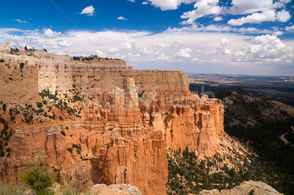 Grand vista of sun and shadow over Bryce Canyon Stock photo © emattil