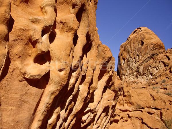 Paisagem rocha vale fogo pedra américa Foto stock © emattil