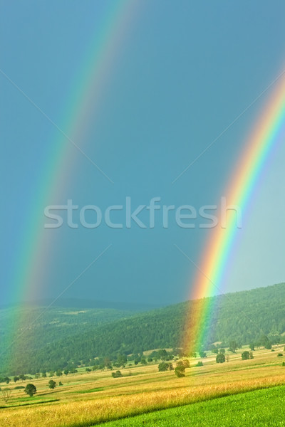Rainbow ciel nature fond beauté été Photo stock © emese73