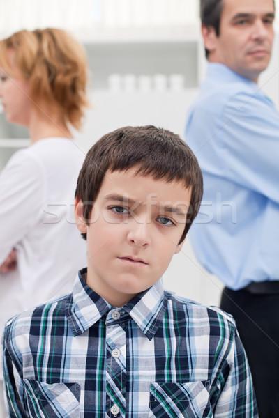 конфликт семьи печально мальчика родителей женщину Сток-фото © emese73