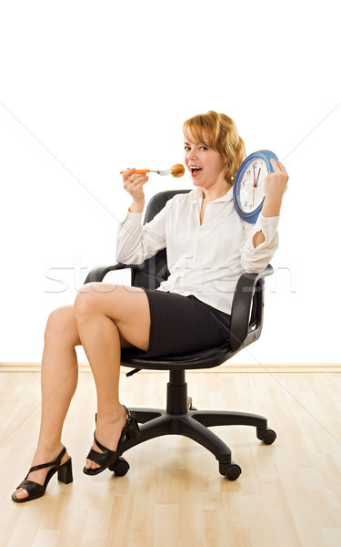 Happy woman in lunch-time Stock photo © emese73