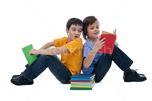 Two boys reading books Stock photo © emese73