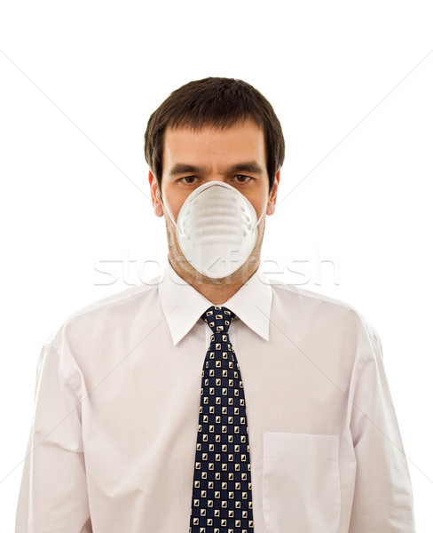 Businessman with mask Stock photo © emese73