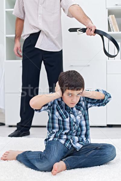 Man punishing his son Stock photo © emese73