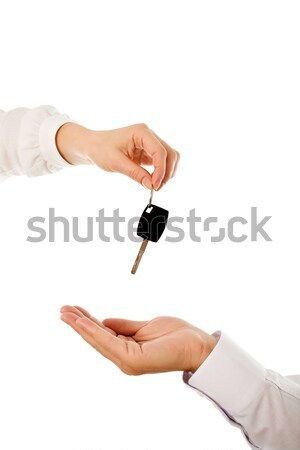 Mains clé femme Palm homme isolé Photo stock © emese73