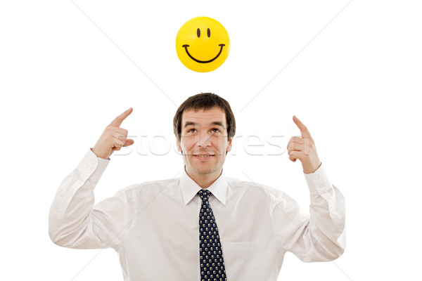 Businessman thinking positive Stock photo © emese73