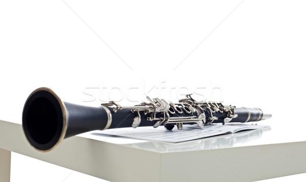 ноты инструмент симфония группы древесины металл Сток-фото © emese73