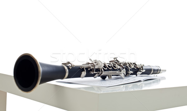 Bladmuziek instrument symfonie band hout metaal Stockfoto © emese73
