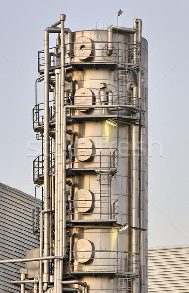 Ipari installáció kikötő Rotterdam Hollandia Stock fotó © emiddelkoop