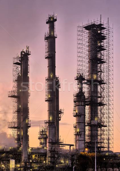 Endüstriyel rafineri bakım tamir güzel Stok fotoğraf © emiddelkoop