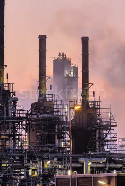 Industrial night scene Stock photo © emiddelkoop