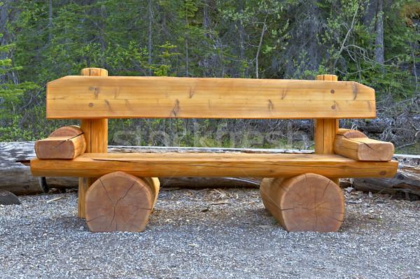 Cute bench in Yoho National Park, Canada. Stock photo © emiddelkoop