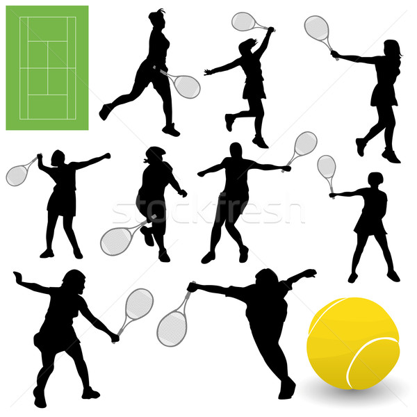Tennis Collection Stock photo © emirsimsek