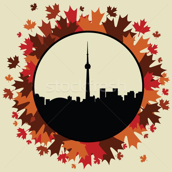 Торонто пейзаж лист Skyline озеро корпоративного Сток-фото © emirsimsek