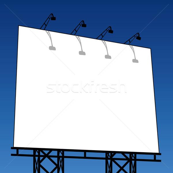 Szabadtér óriásplakát űr iskolatábla számla szalag Stock fotó © emirsimsek