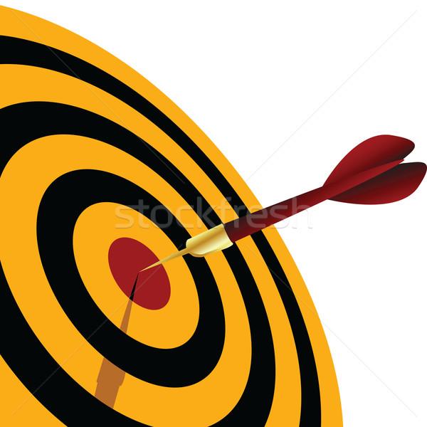 Szem darts cél sport jókedv gyűrű Stock fotó © emirsimsek