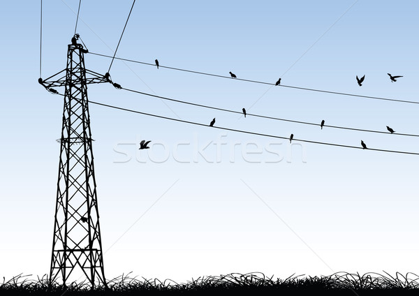 Transmission Tower Stock photo © emirsimsek