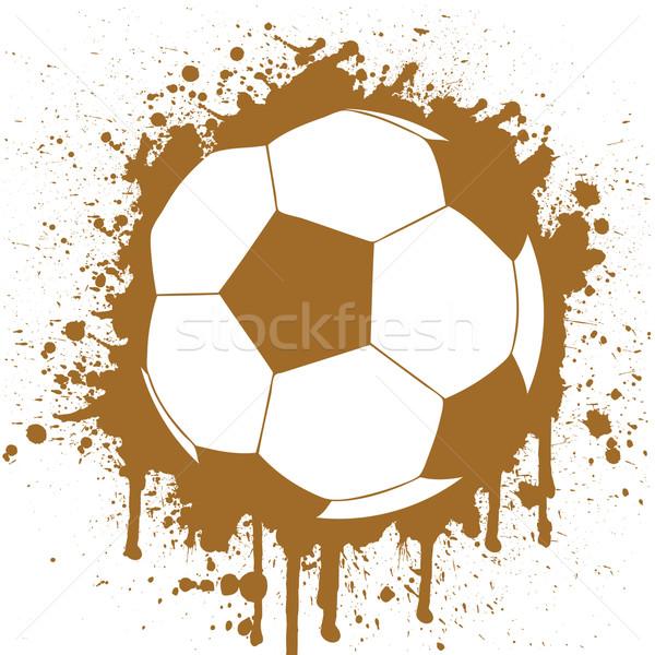 Futballabda sport terv háttér labda hideg Stock fotó © emirsimsek