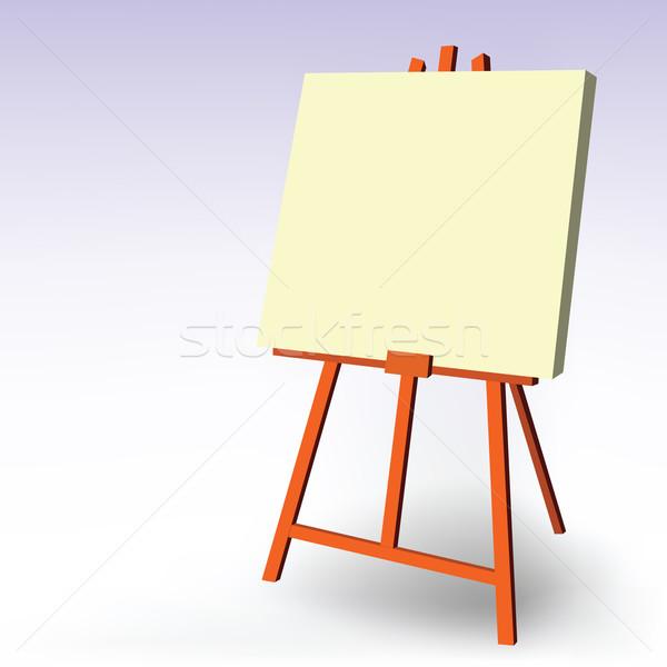 Festőállvány papír terv művészet felirat űr Stock fotó © emirsimsek