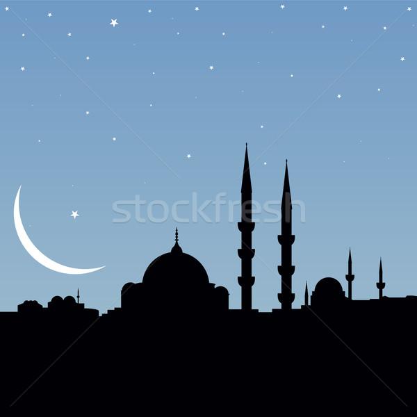 Isztambul vektor városkép háttér tapéta Ázsia Stock fotó © emirsimsek