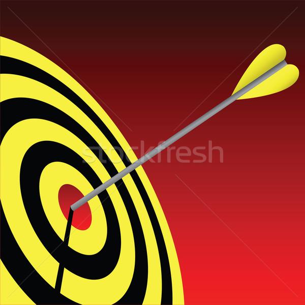 Szem cél jókedv vállalati tábla gól Stock fotó © emirsimsek