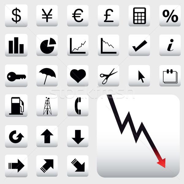 Pénzügy ikonok vektor szett terv világ Stock fotó © emirsimsek