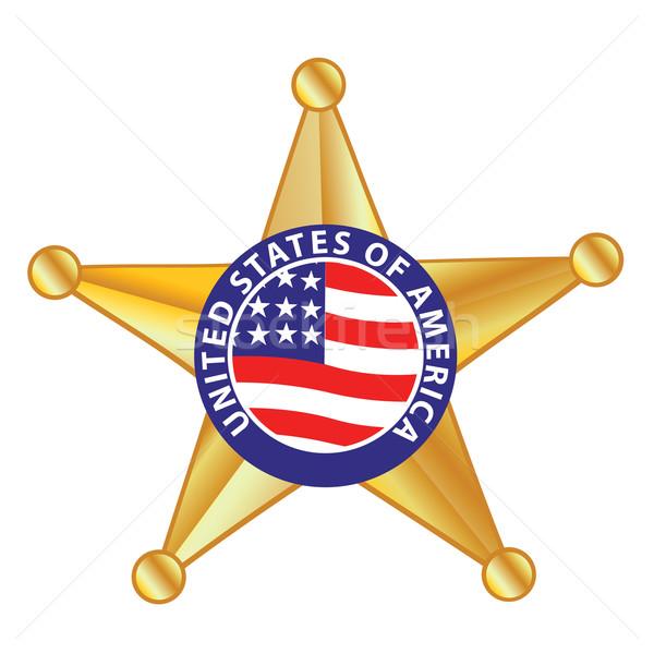 Sheriff kitűző felirat törvény csillag szolgáltatás Stock fotó © emirsimsek