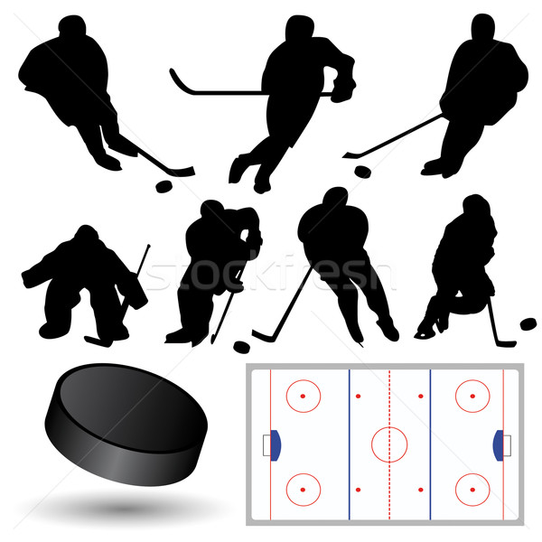 Ice Hockey Collection Stock photo © emirsimsek