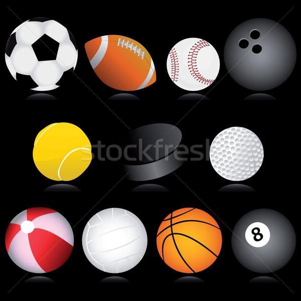 Sport golyók vektor szett különböző terv Stock fotó © emirsimsek