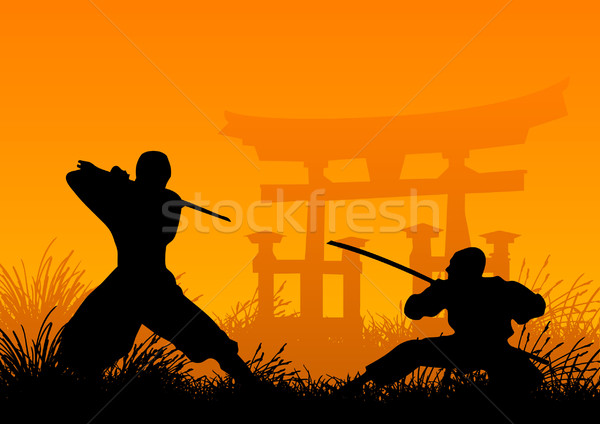 Ninjas Stock photo © emirsimsek