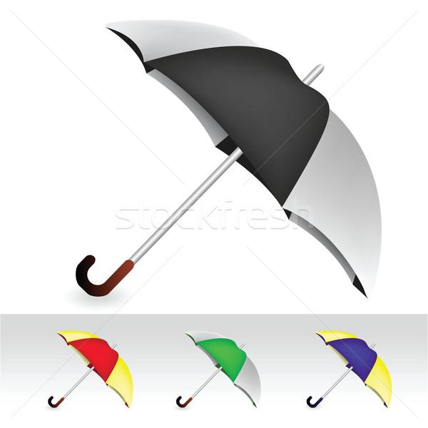 Esernyők vektor szett eső kék stúdió Stock fotó © emirsimsek