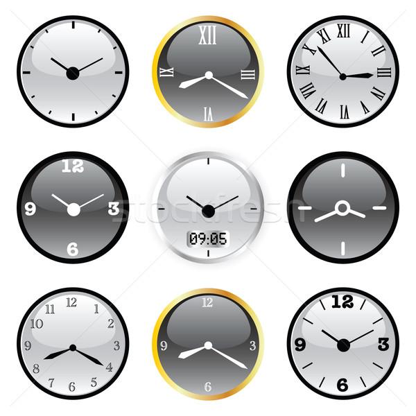 órák vektor szett különböző fal otthon Stock fotó © emirsimsek