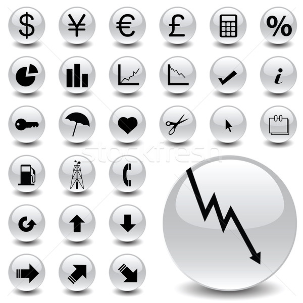 Finance Icons Stock photo © emirsimsek