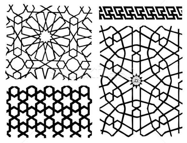 Arabesque Design Elements Stock photo © emirsimsek