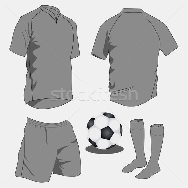 Sport egyenruhák vektor szett mező viselet Stock fotó © emirsimsek