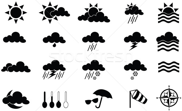 Weather Icons Stock photo © emirsimsek