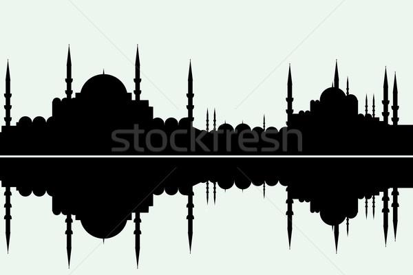 Стамбуле Cityscape аннотация поклонения молятся Бога Сток-фото © emirsimsek