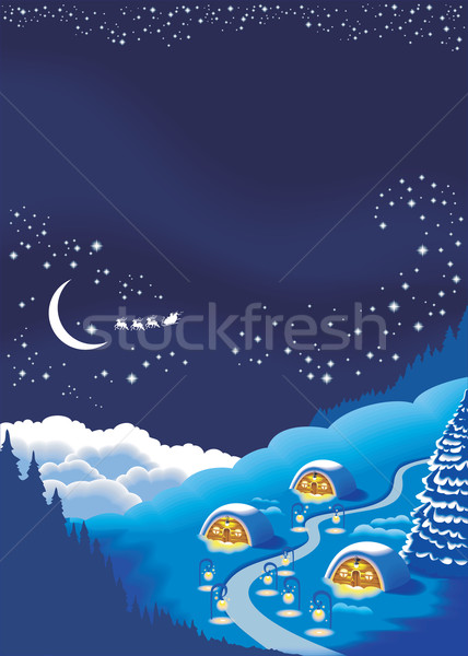 Christmas background for a holiday greeting card Stock photo © ensiferrum