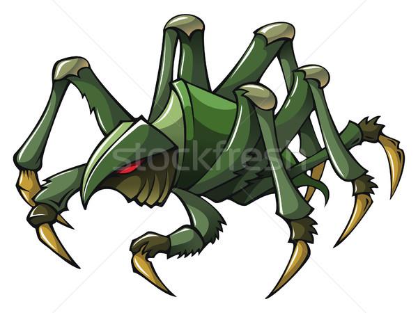 Scary pająk straszny charakter cień cartoon Zdjęcia stock © ensiferrum
