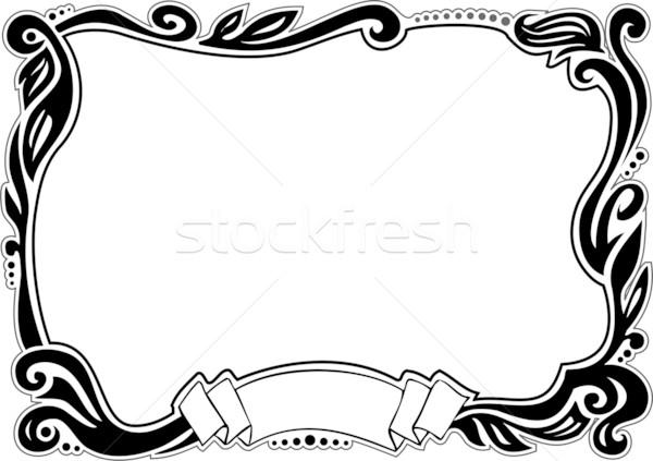 Confine elemento design natura sfondo Foto d'archivio © ensiferrum