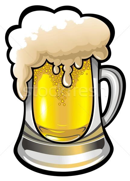 ガラス ビール 光 デザイン 色 暗い ストックフォト © ensiferrum